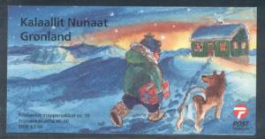Greenland Sc 468b 2005 Christmas stamp booklet mint NH