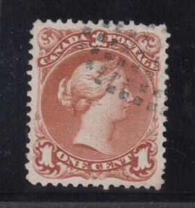 Canada #22 XF Used With Dot Cancel