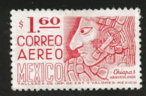 MEXICO Scott C446 MH* 1975 airmail  Creased stamp