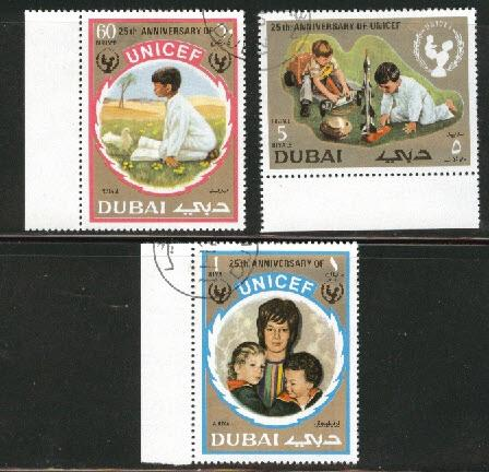 DUBAI Scott 152-3, C60 used CTO  Unicef set 1971