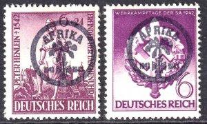 GERMANY 528, B208 WW2 AFRIKAKORP OVERPRINTS OG H-NH M/M-U/M F/VF BEAUTIFUL GUM