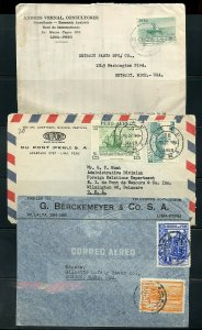 PERU LOT OF 14 COMMERCIAL AIR MAILS COVERS MOSTLY 1940'S-1950'S  AS SHOWN