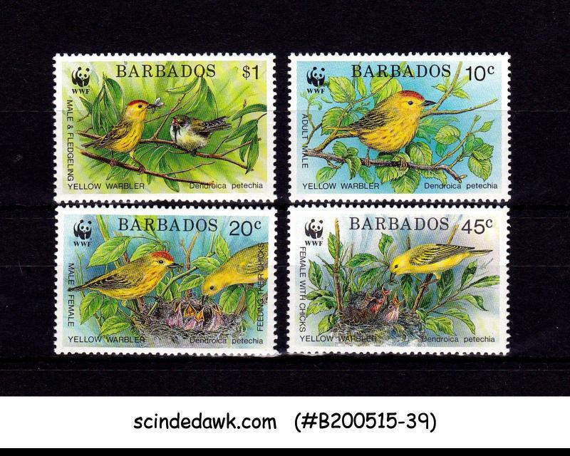 BARBADOS- 1991 ENDANGERED SPECIES / BIRDS - 4V - MINT NH