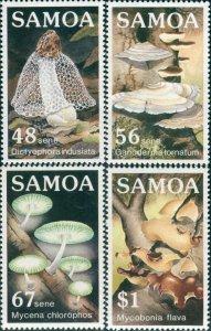 Samoa 1985 SG696-699 Fungi set MNH