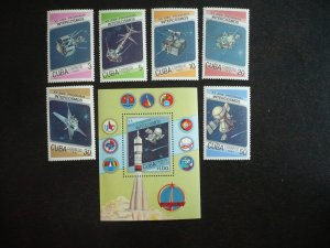 Stamps - Cuba - Scott# 2929-2935 - MNH Set of 6 stamps and 1 Souvenir Sheet