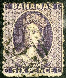 Bahamas Stamps # 4 Used VF Scott Value $750.00