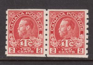 Canada #MR6 Very Fine Never Hinged Coil Pair **With Certificate**