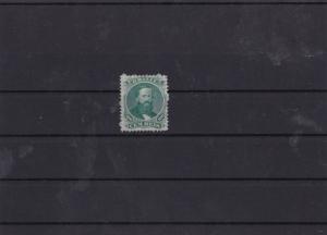 brazil 1866 100r green unused no gum mint cat £534  stamp ref 7400