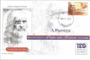 100 Years Of Flight First Day Cover Leonardo Da Vinci 2004 Gambia Z5517