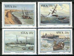 South West Africa SWA 1987 - Ships, Shipwreck MNH set # 590-593