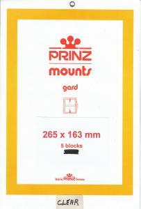 PRINZ CLEAR MOUNTS 265X163 (5) RETAIL PRICE $13.50