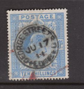 Great Britain #141 VF Used With Ideal S.O.N. Ju 17 1911 CDS Cancel