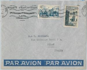 59256 -    MOROCCO - POSTAL HISTORY: COVER to ITALY - 1955   PALM TREES