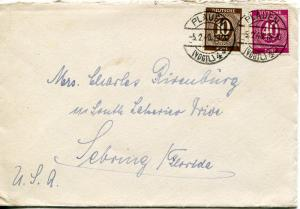 Germany 1948 2 covers to Florida  VF