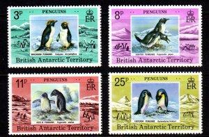 British Antarctic Territory 72-75 NH CV$20.50