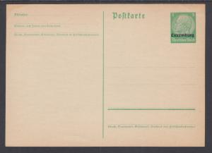 Germany, Occupation of Luxemburg H&G I35 mint 1940 5pf Postal Card w/ ovpt