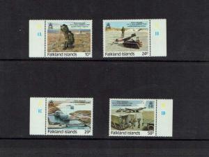 Falkland Islands: 1987 Royal Engineers Royal Warrant, MNH set