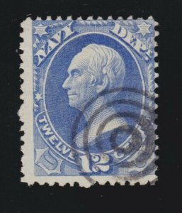 US O41 12c Navy Department Used w/ 4 Ring Target Cancel VG-F SCV $45