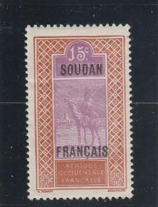 French Sudan  Scott#  29  MH  (1927 Overprint)