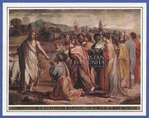 TRISTAN DA CUNHA 1983 Sc 347 MNH VF 50P s/s, Religion -  Art - Jesus - St Peter