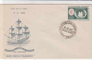 India 1965 Int. Chamber of Commerce XXth Congress Cancel & Stamp FDC Cover 34748