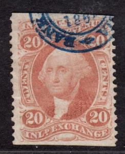 $US SC#R42b used, VF, part perf H/S cancel, horiz. crease, CV. $22.50