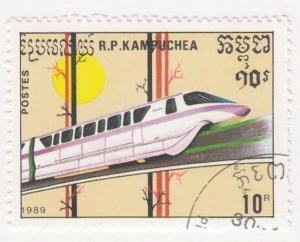 Cambodia, Sc 932 (2), CTO-NH, 1989, Locomotive