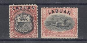 Labuan 1897 6c/8c SG93/94 Mint MNH J5126