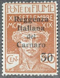 DYNAMITE Stamps: Fiume Scott #115 – MINT