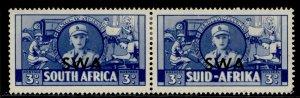 SOUTH WEST AFRICA GVI SG117, 3d blue, M MINT. Cat £24.