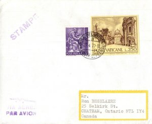 Vatican City to Canada, 1977 Postal Cover with original New issues brochures