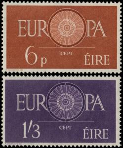 ✔️ IRELAND 1960 - EUROPA CEPT TOP SET - SC. 175/176 MNH OG [IR0146]