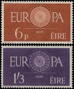✔️ IRELAND 1960 - EUROPA CEPT TOP SET - SC. 175/176 MNH OG [IR0146]