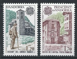 Andorra French #269 and 270 1.20fr and 1.70fr Eupora - Communications