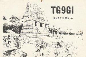 8796 Amateur Radio QSL Card  GUATEMALA CITY