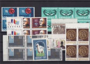 uruguay mnh stamps blocks  ref 10825