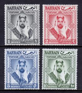 BAHRAIN — SCOTT 126//129 (SG 124//127) — 1960 SHEIK HI VALUES — MNH — SCV $30.75