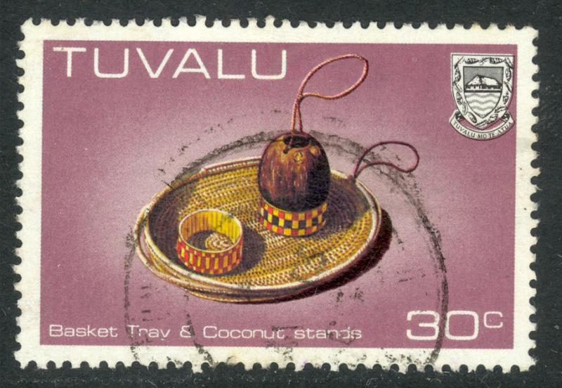 TUVALU 1983-84 30c Basket Tray & Coconut Stands Handicrafts Issue Sc 188A VFU