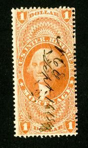 US Stamps # R73c Fresh Used Scott Value $300.00