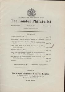 The London Philatelist: Vol. LXIX, Number 814,