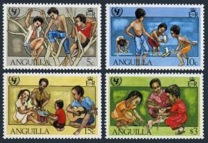 Anguilla 448-452,MNH.Michel 446-450,Bl.39.UNICEF-35,1981.Games.Soccer,Dog,Turtle