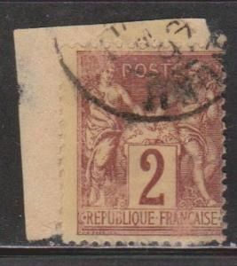 FRANCE Scott # 88 Used - On Piece