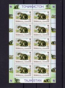 Tajikistan 1996  WWF Pallas Cats 6 Sheetlets  (60v) perforated MNH Sc # 92-97