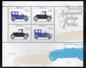 PORTUGAL Scott 1906A MNH** 1992 Antique Automobile souvenir sheet