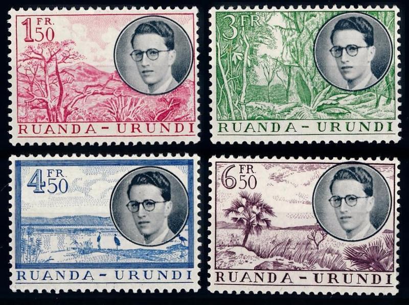 [66539] Rwanda Urundi 1955 Flora Plants Trees visit King Boudewijn  MNH