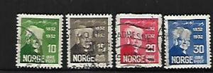 NORWAY, 154-157, USED, BJORNSON