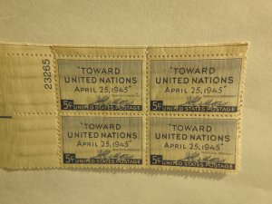 U. S. #928  MINT corner block  OG   NH
