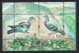 Moldova Rock Dove 'Columba Livia' Birds MS SG#MS696 MI#Block 50