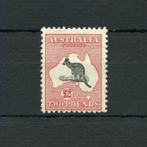 AUSTRALIA  KANGAROO  SCOTT#129, SG#138  MINT LIGHT HINGED--SCOTT VALUE $4000.00
