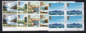 Great Britain Sc 945-49 1981 Nat Trust Scotland stamp set blocks of 4 mint NH